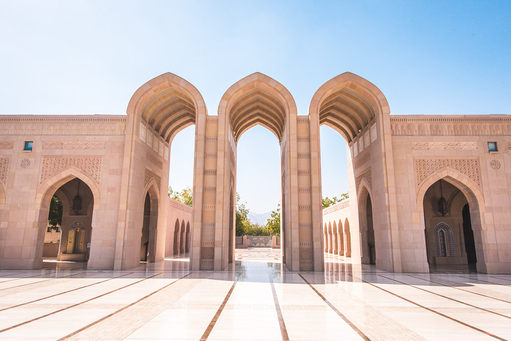 Muscat Oman Grand Mosque Sultan Qaboos Moskee