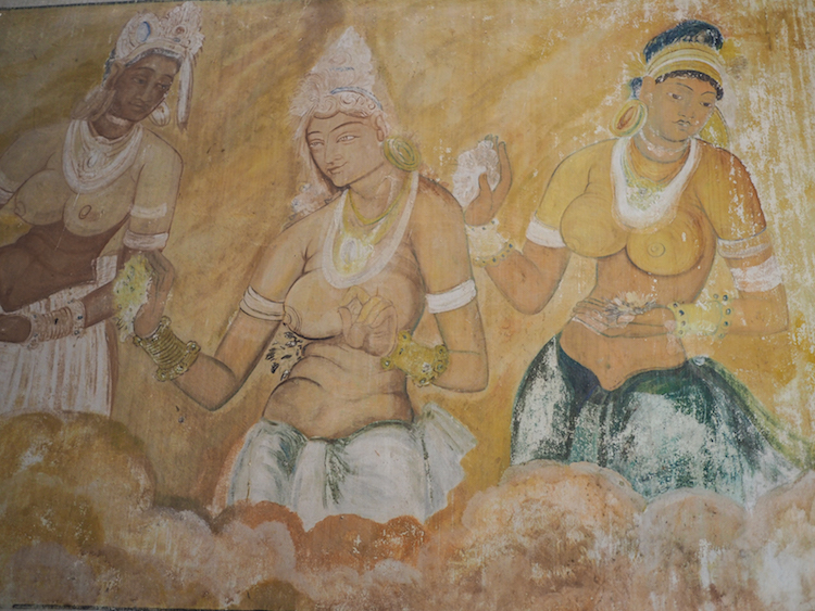 Muurschilderingen pidurangala tempel