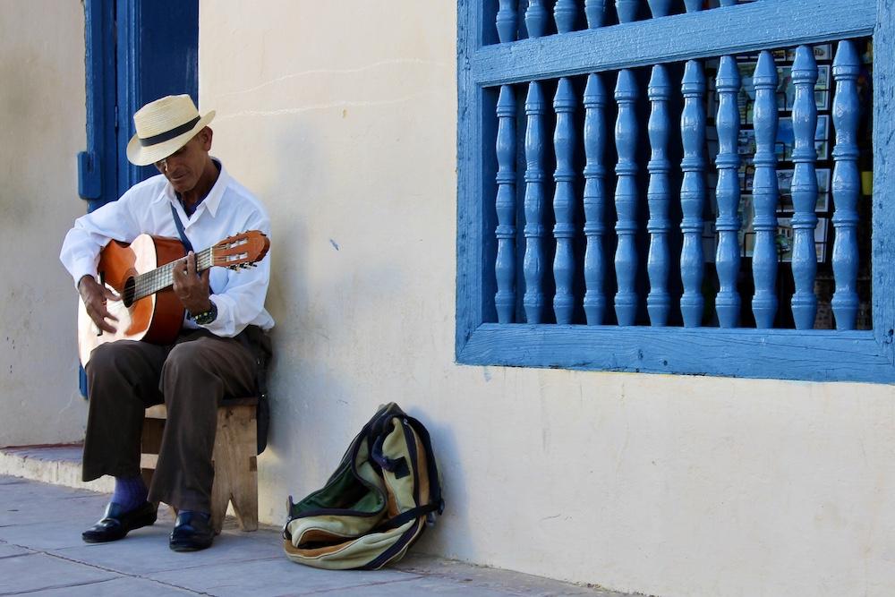 Muzikant in Tirnidad, Cuba