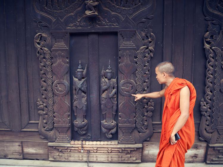 Myanmar monnik tempel mandalay