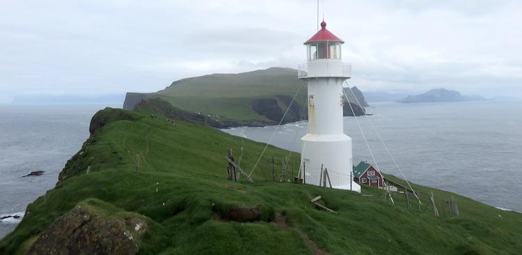 Mykines vuurtoren Faroer Eilanden