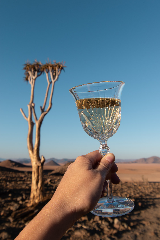 Namibie sonop game drive drankjes sunset-2