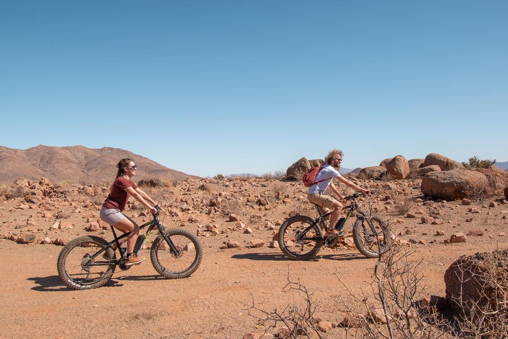 Namibie sonop morning mountainbike e-bike-2