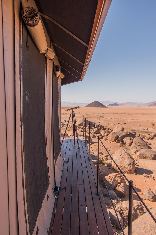 Namibie sonop tent buiten