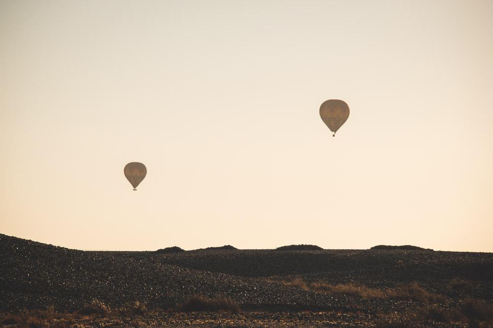 Namibie sossusvlei zonsopgang ballon vlucht