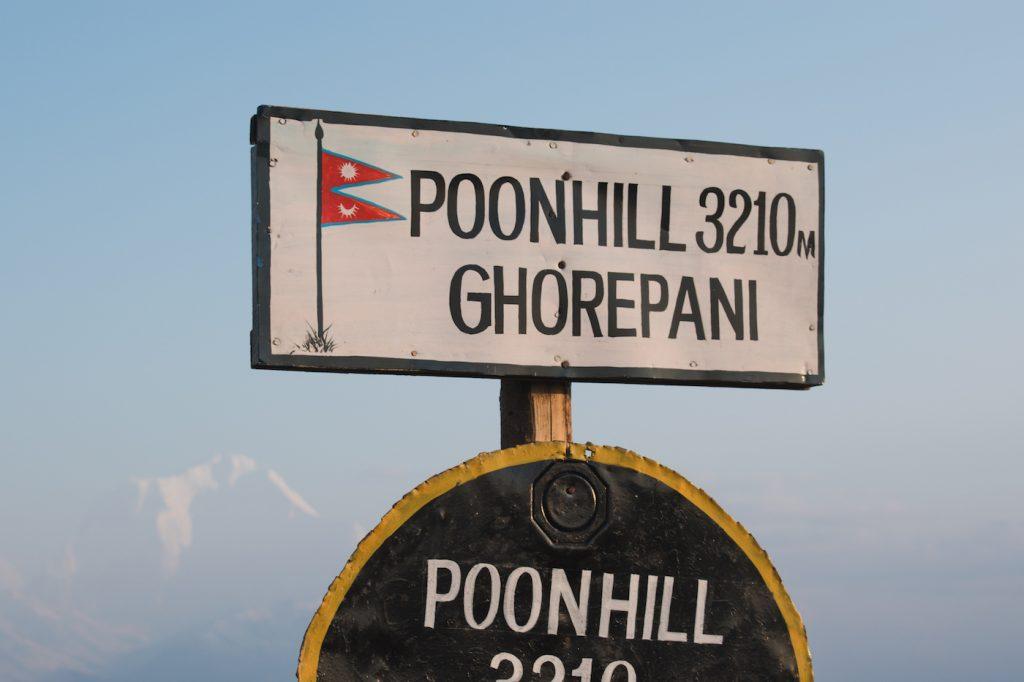 Nepal Poon hill trekking 3210 meter hoogte