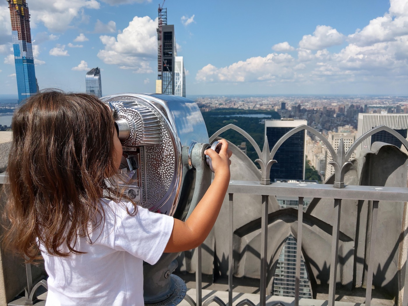 New York met kinderen Top of the Rock