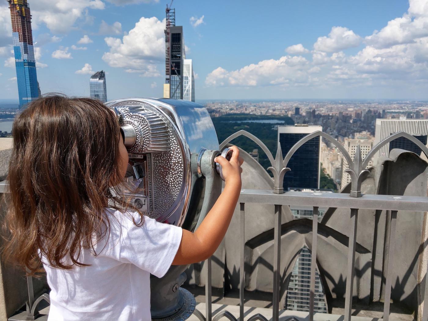 New York met kinderen Top of the Rock