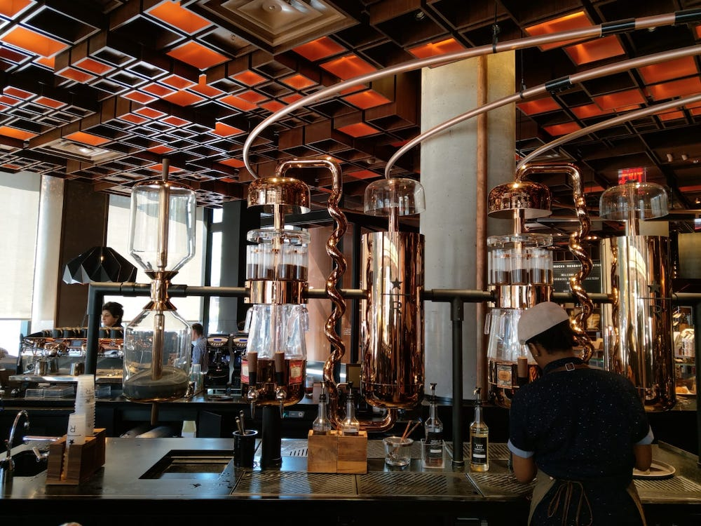 New York tips Starbucks Reserve Roastery