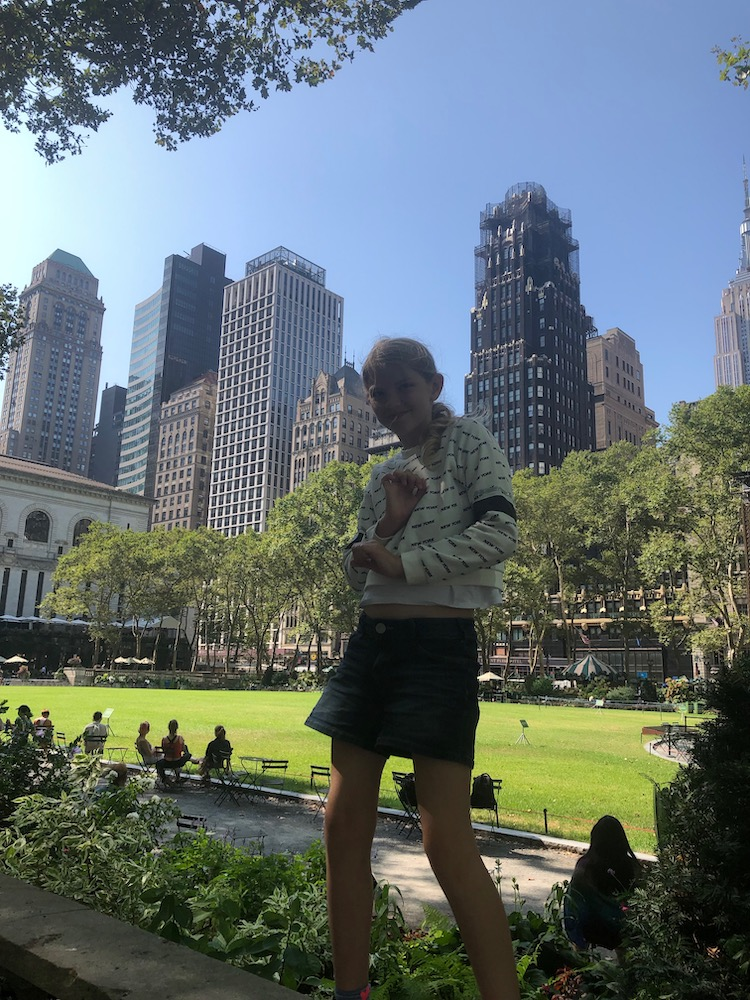 New york met kinderen Bryant Park tips