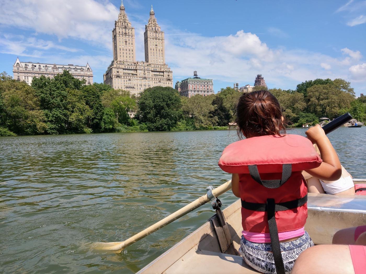 New york met kinderen Central Park
