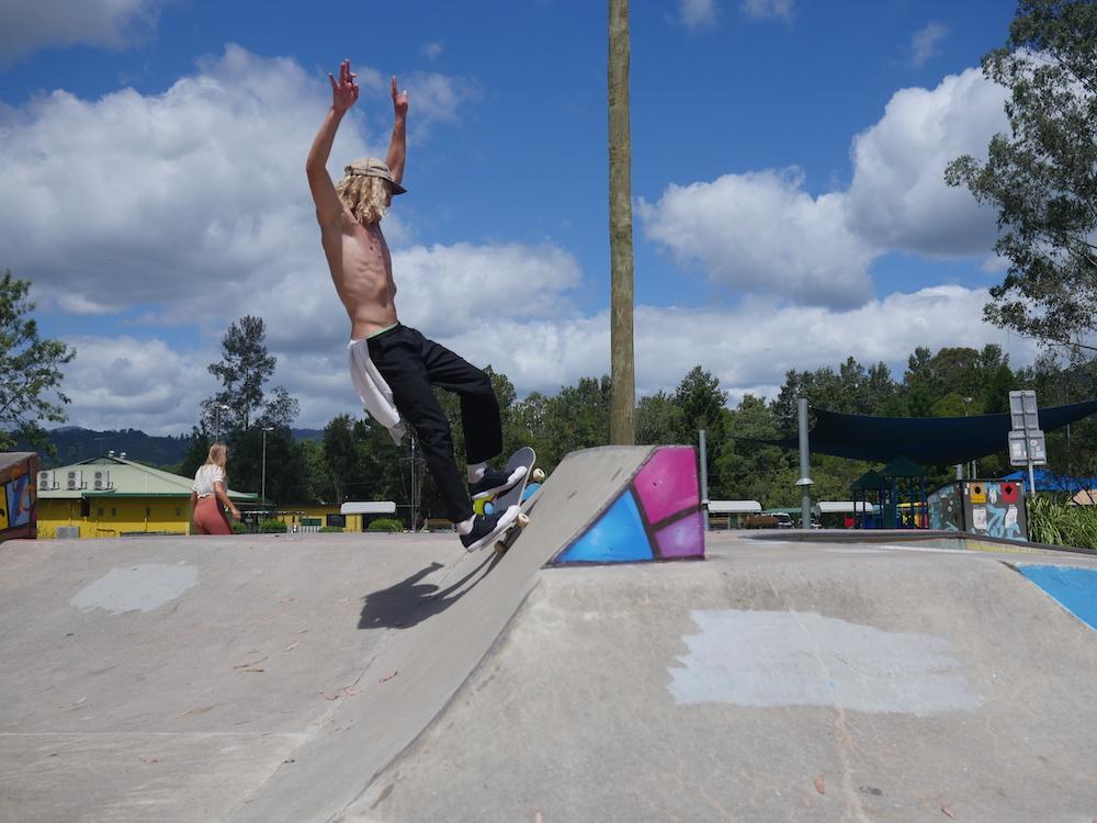Nimbin skatepark dichtbij Byron Bay
