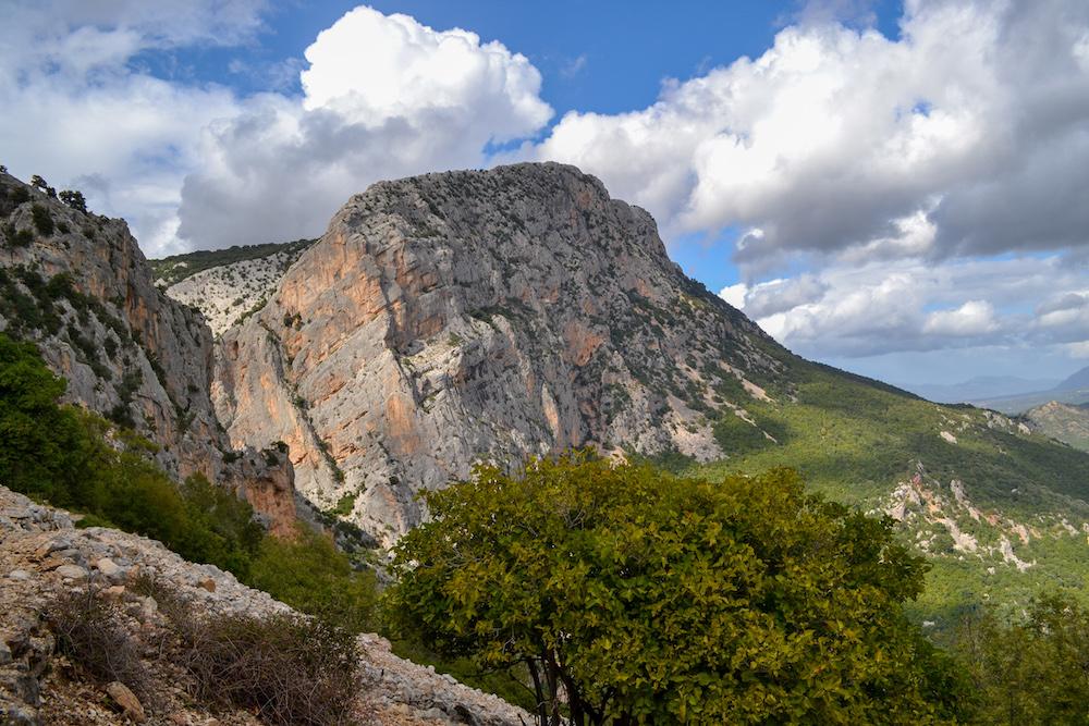 Noord Sardinie Gola di Gorropu - uitzicht