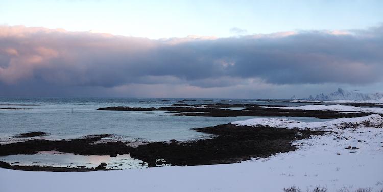 Noorwegen zwart strand