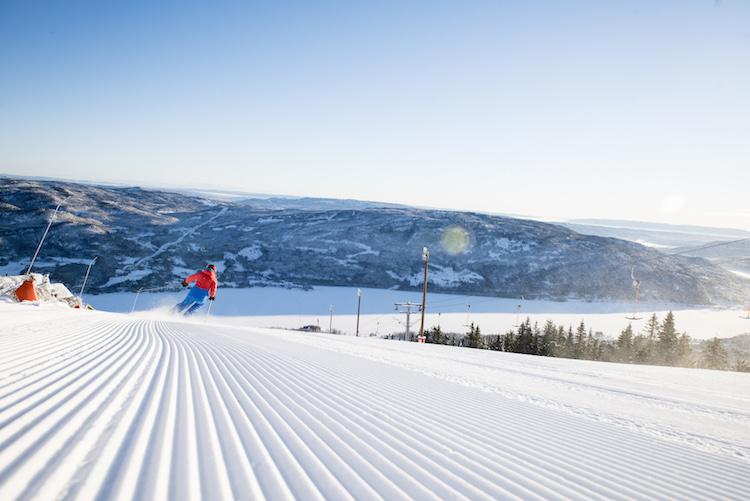 Norefjell noorwegen wintersport nieuwe piste