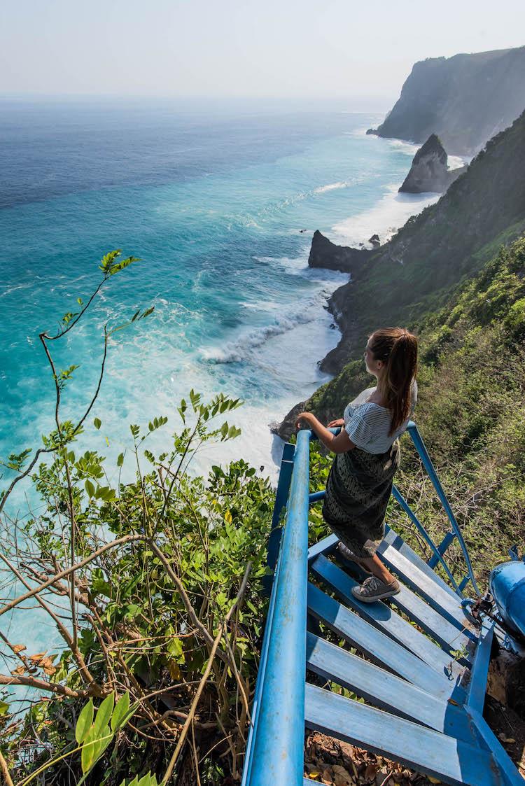 Nusa Penida bezienswaardigheden wat doen Blue stairs
