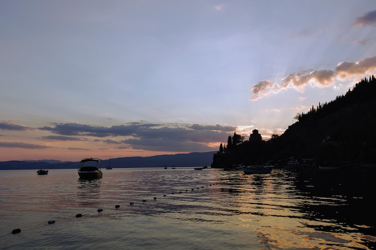 Ohrid zonsondergang