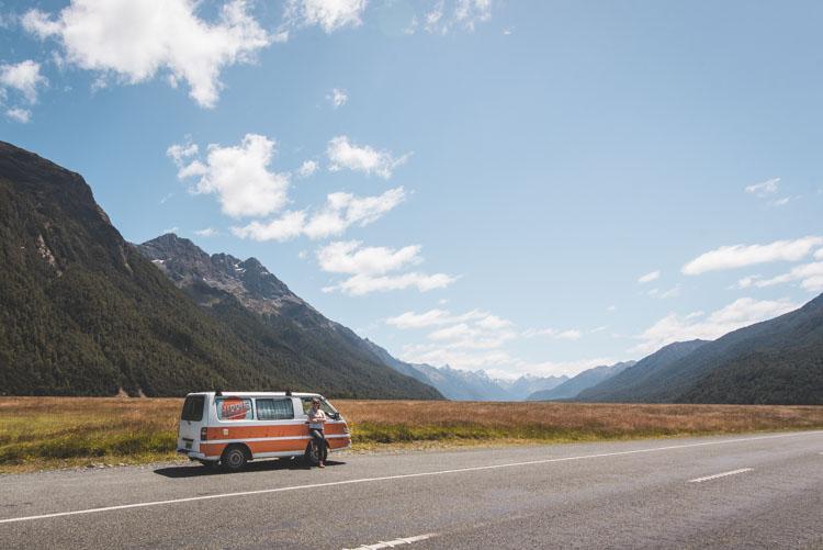 Onderweg naar Milford Sound_
