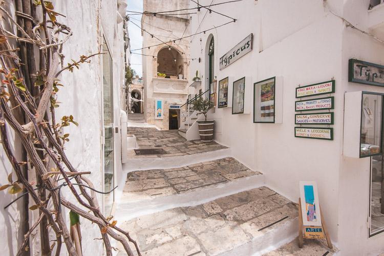 Ostuni Puglia Italie oude deel