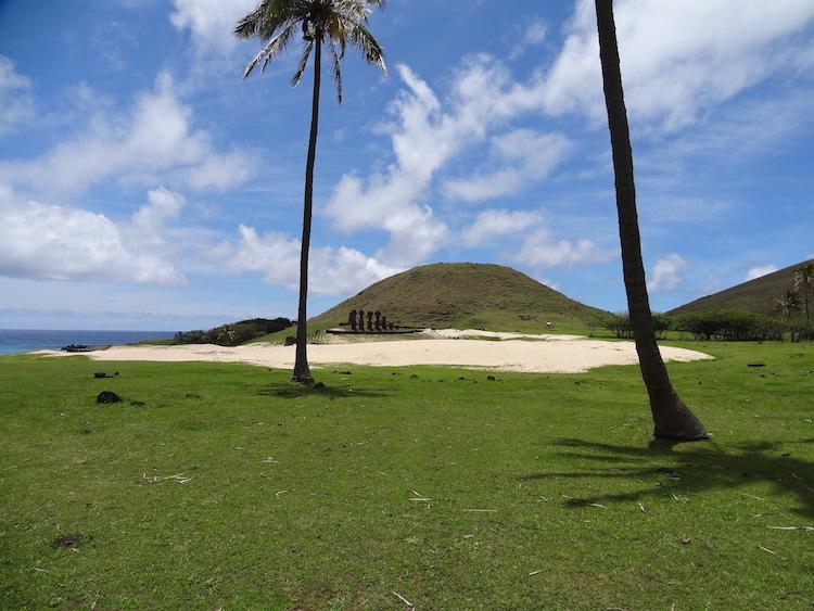Paaseiland bezoeken palmbomen chili