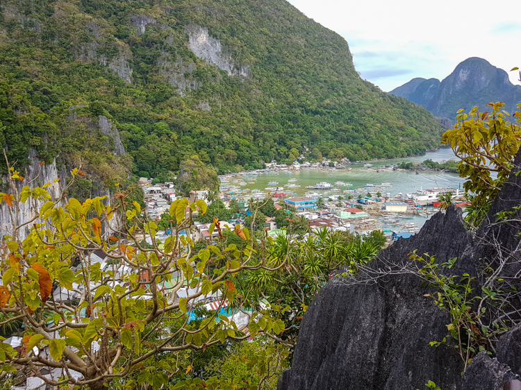 Palawan filipijnen route El-Nido-cliff-klimmen