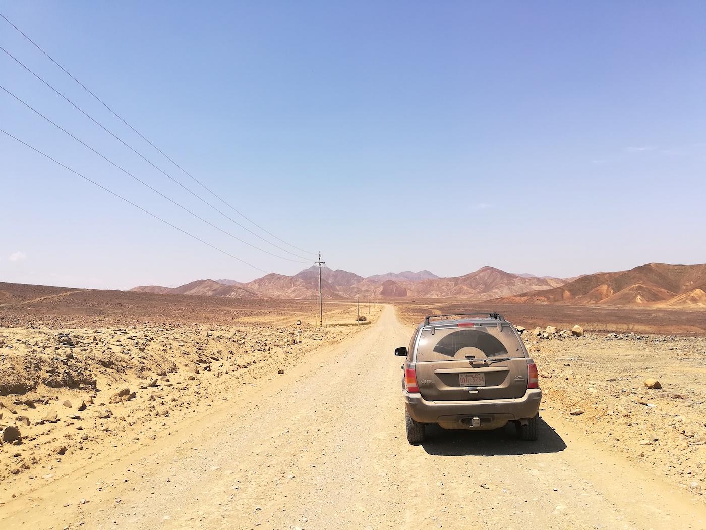 Pan American Highway route onderweg