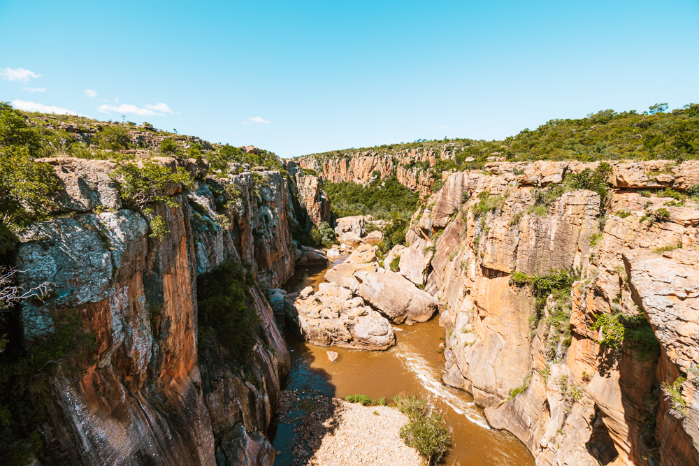 Panoramaroute zuid afrika rivier Bourke's Luck Potholes-0311