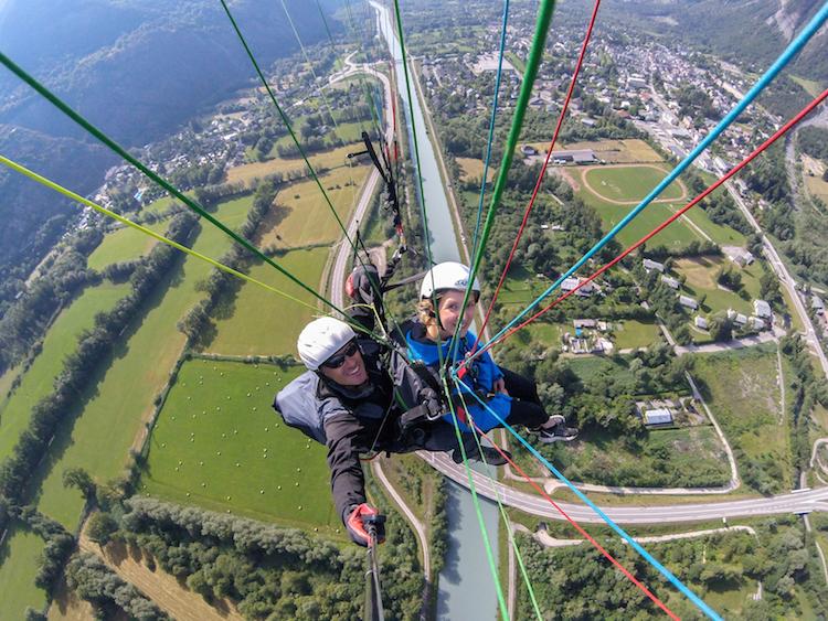 Paragliden franse alpen