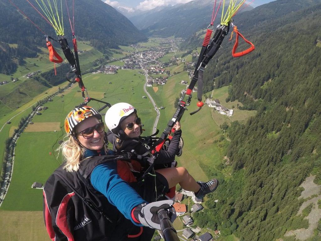 paragliden in stubai parafly