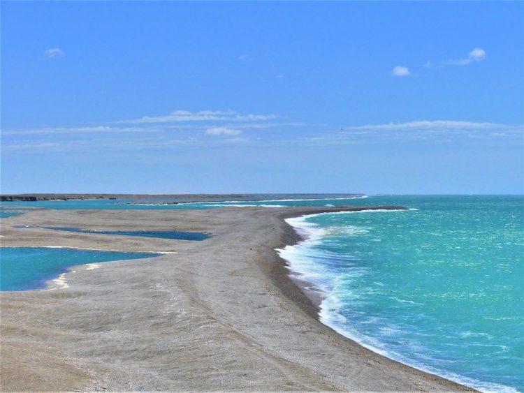 Península Valdés uitzicht over zee