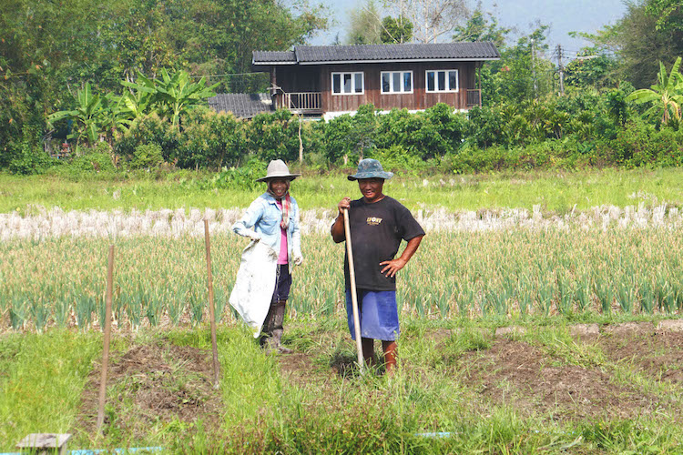 Phrao afgelegen hill tribe dorpjechiang mai