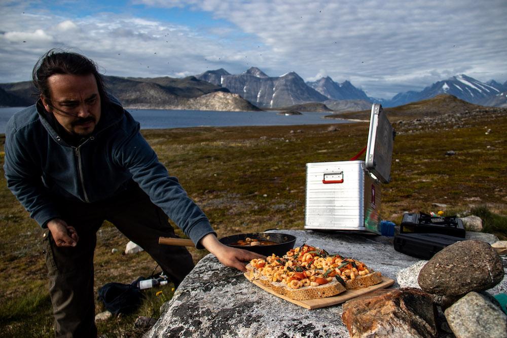 Picknicken Groenland reis Uunartoq