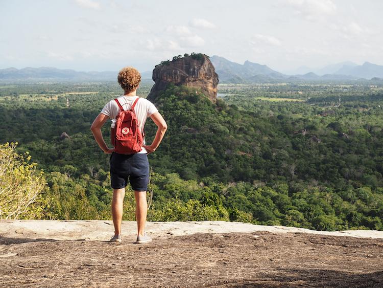 Pidurangala sri lanka uitzicht op sigiriya
