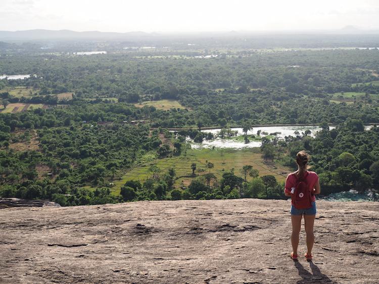 Pidurangala uitzicht over sri lanka