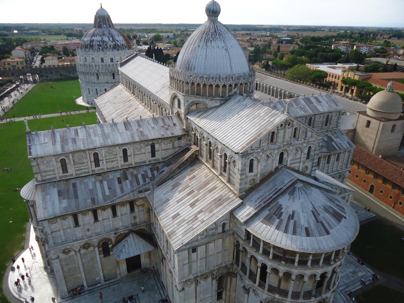 Pisa Kathedraal vanaf toren van Pisa
