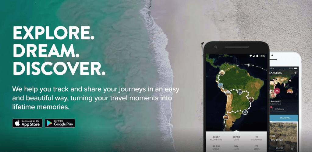 Polarsteps app travelbook