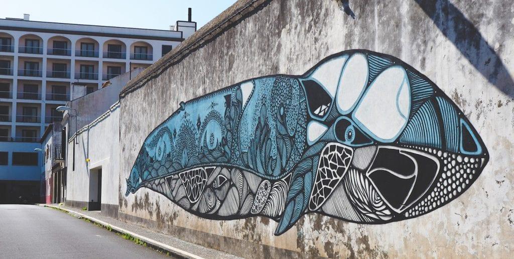 Ponta Delgada Azoren streetart
