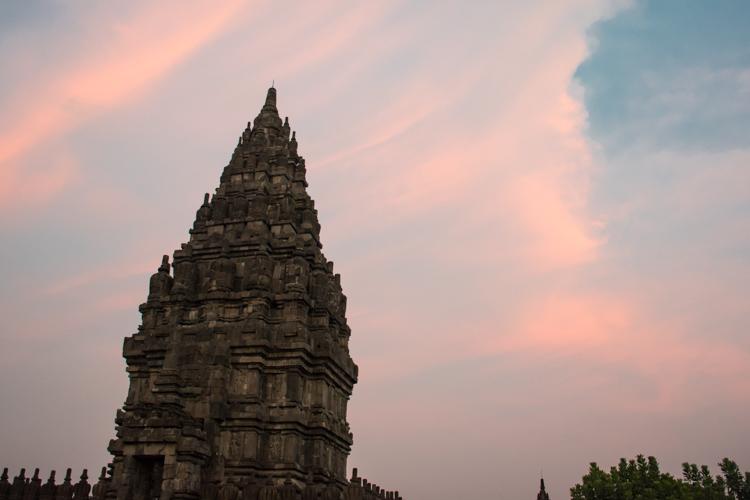 Prambanan tempel bezoeken yogyakarta zonsondergang-2