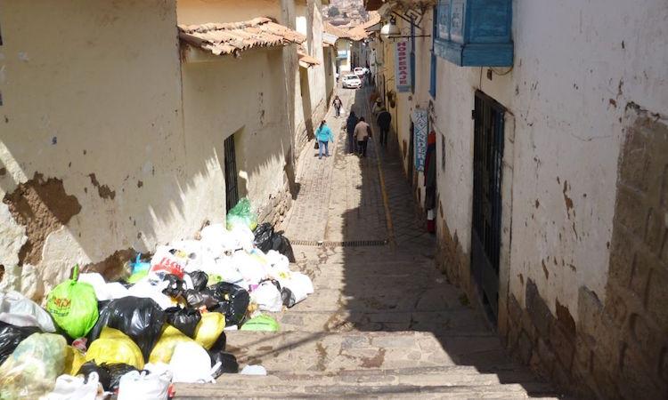 Problemen in Cusco afval peru