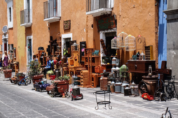 Puebla Mexico Knusse straatjes