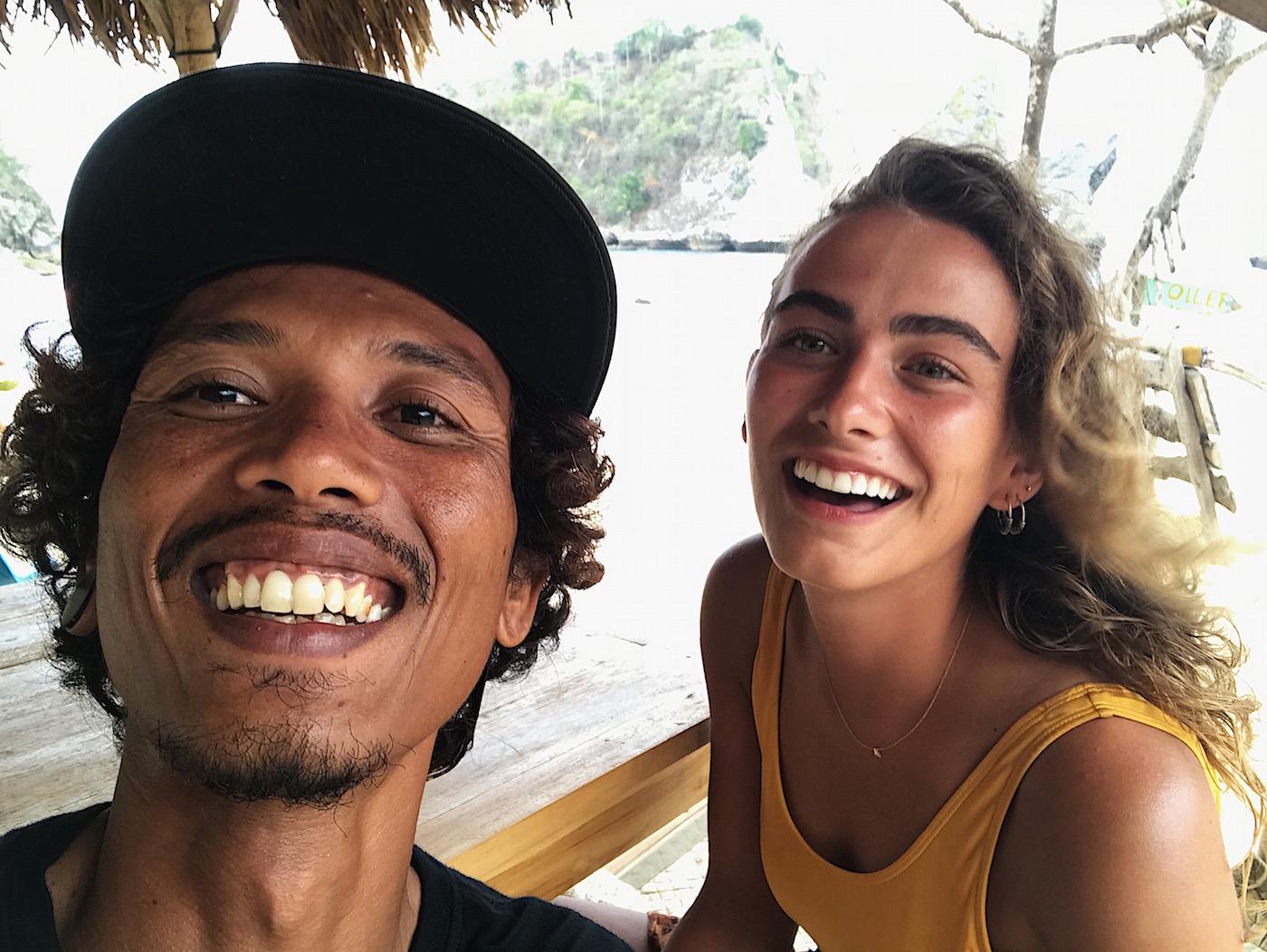 Putu en Kristie Indonesie Nusa Penida.