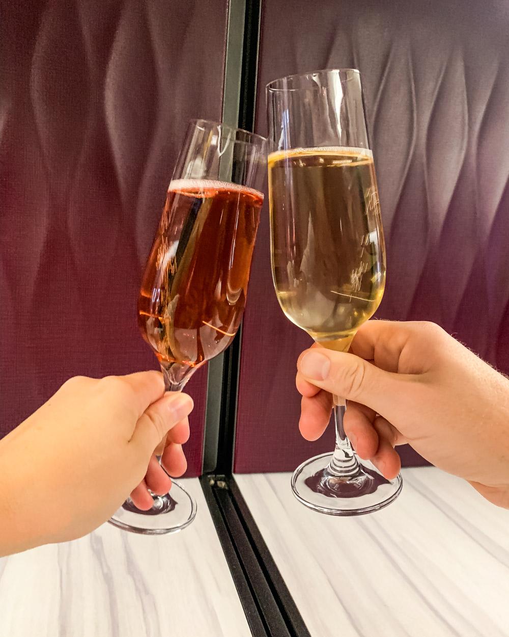 Qatar Airways Welcome drink business class