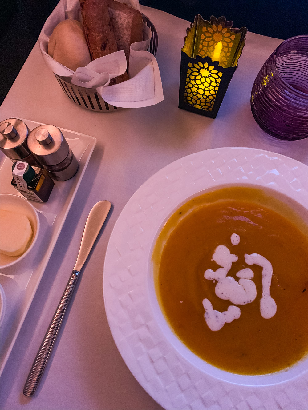 Qatar Airways Business Class diner
