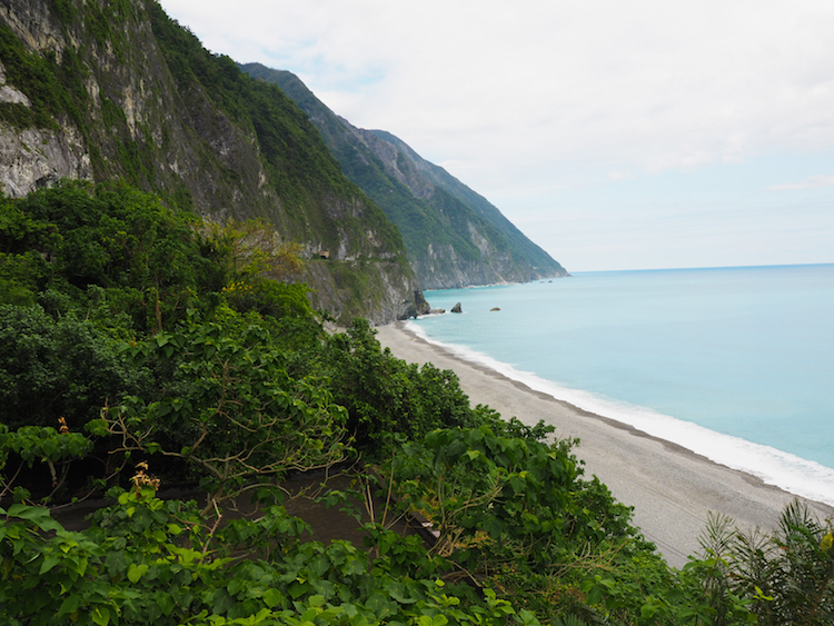 Qingshui Cliff Taiwan dichtbij Taroko Gorge