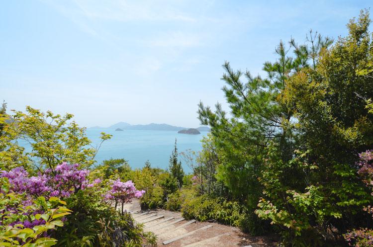 Rabbit island look out Okunoshima