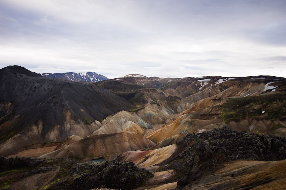 Rainbow mountains ijsland Landmannalaugar