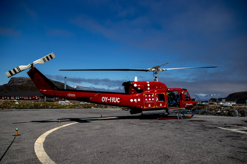 Reis naar Groenland helikoptervlucht