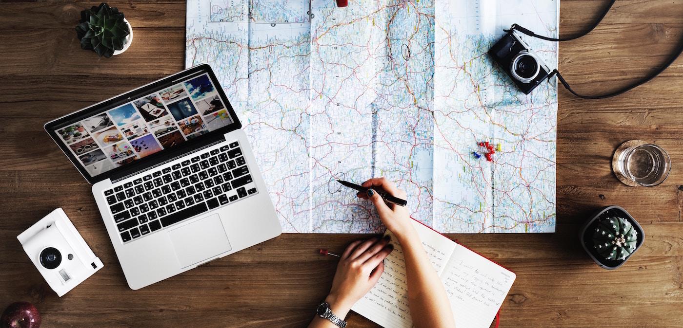 Reisplannen kaart reizen