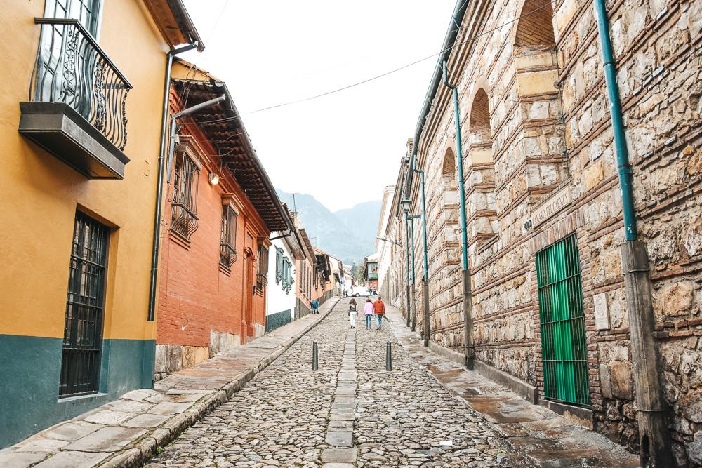 Reisroute Colombia Bogota straatjes