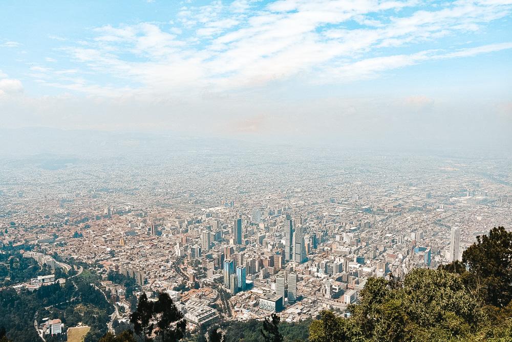 Reisroute Colombia Bogota uitzichtpunt